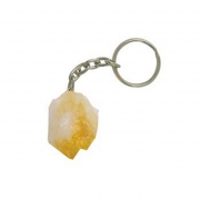 Citrine Point Gemstone Keyring