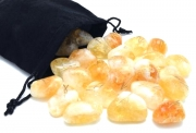 Citrine Elder Furthark Rune Set with Pouch