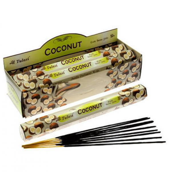 Coconut Incense Sticks Full Box 120 Sticks - TULASI