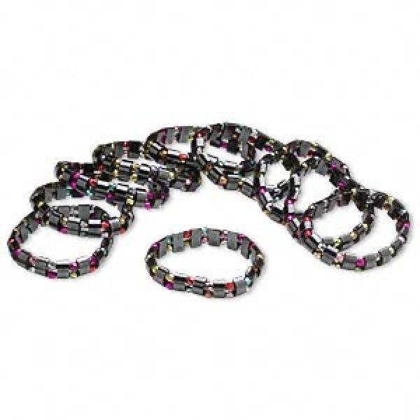 Colourful Hematite Stretch Bracelets