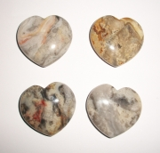 Crazy Lace Agate Large Gemstone Heart
