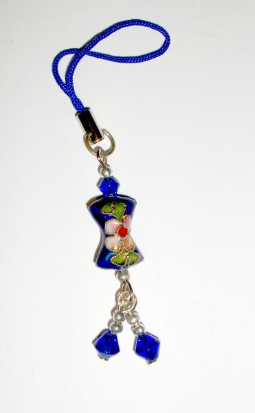 Royal Blue Cushion - Cloisenne Handbag / Mobile Phone Charm
