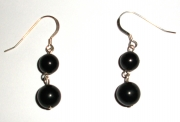 Double Jet Sphere Earrings