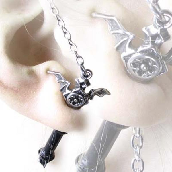Ruthven Cross Alchemy Gothic Pewter Earring