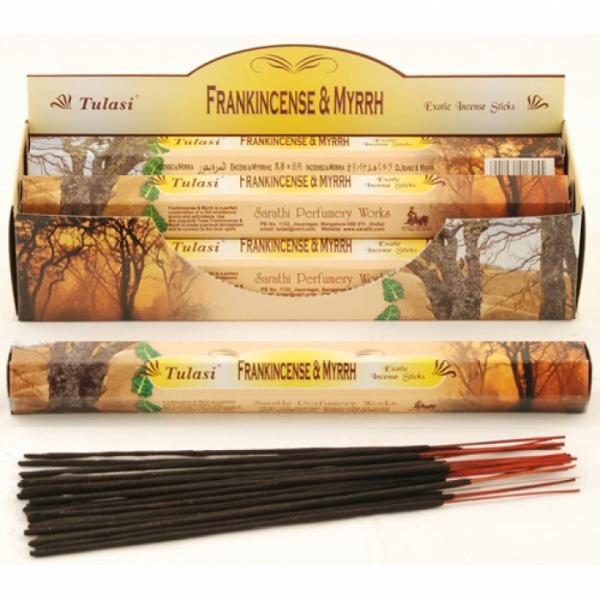 Frankincense And Myrrh Incense Sticks Full Box 120 Sticks - TULASI