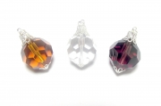 Facetted Glass Pendant - four colours available