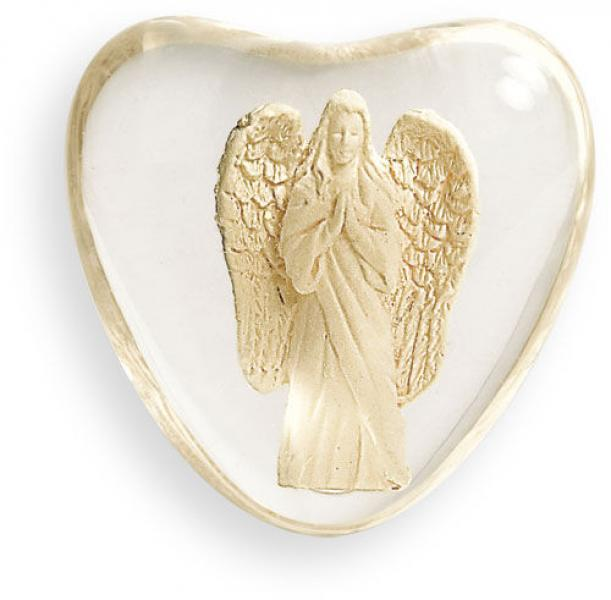 "Serenity Heart ""Faith"" Worry Stone Angel"