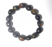 Falcons Eye and Gold Tigers Eye mix Tumblestone Bracelet