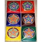 Fancy Pentagram Leather Coin Purse Wallet
