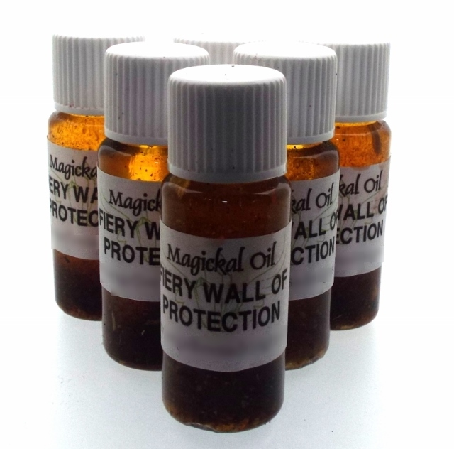 Fiery Wall Of Protection Spell Oil