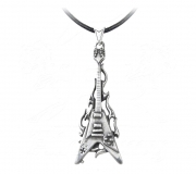 Flaming V Guitar Pendant