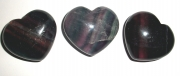 Fluorite Gemstone Heart Carving - Large