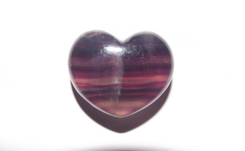 Fluorite Mini Gemstone Heart