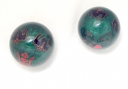 Flower and Symbol Baoding Stress Relief Enamel Balls