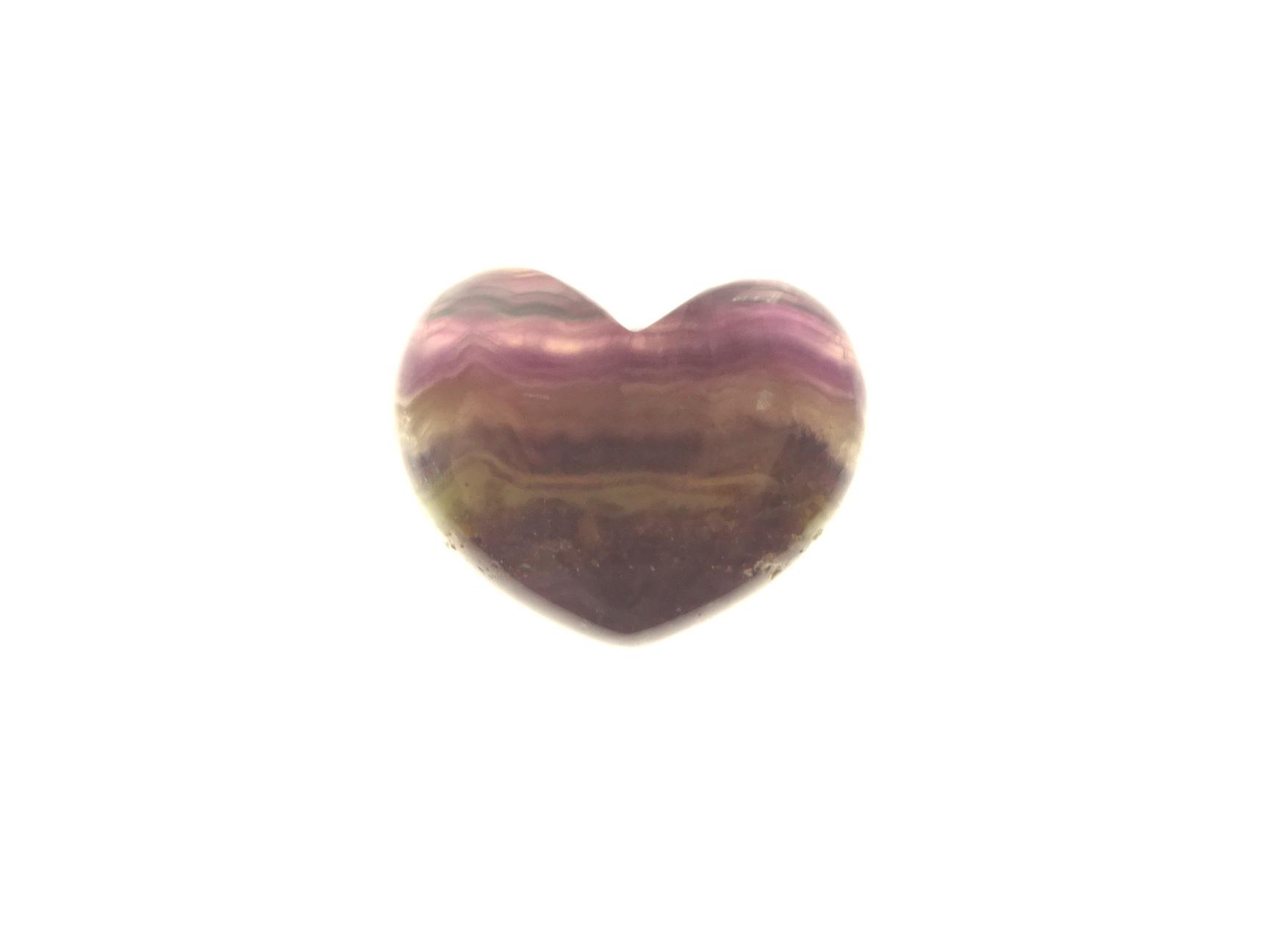 Fluorite Gemstone Heart Specimen