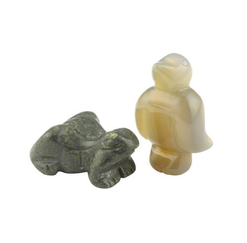 Animal gemstone crystal carvings mm various types