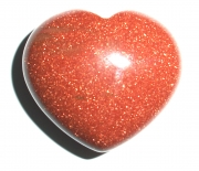 Goldstone Mini Gemstone Puff Heart Carving