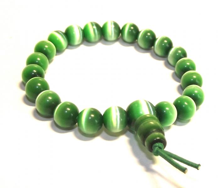 Green Cats Eye Power Bracelet