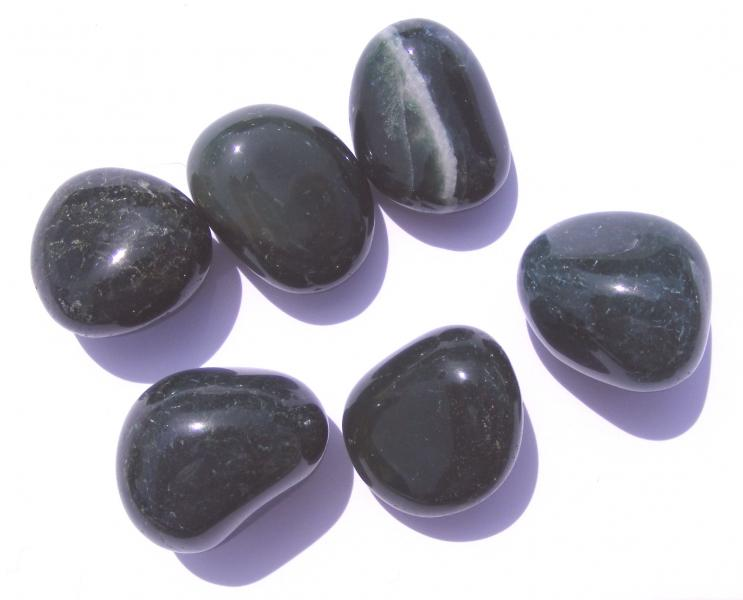 Green Moss Agate Tumblestones - Medium