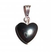 Hematite Small Gemstone Heart Pendant