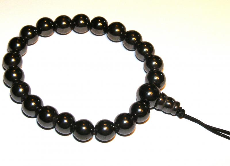 Hematite Gemstone Crystal Power Bracelet