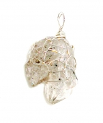 Herkimer Diamond Wire Wrapped Gem Pendant 1