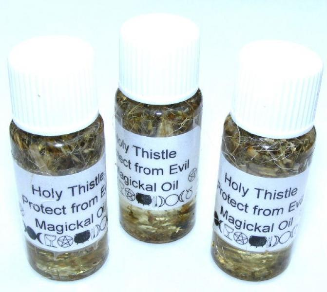 Holy Thistle Magickal Oil Protection From Evil