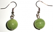Jade Gemstone Sphere Earrings