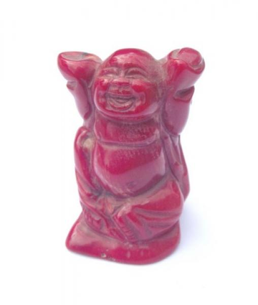Red Coral Buddha Carving 3
