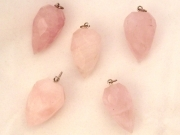 Rose Quartz Jumbo Teardrop Facetted Pendant
