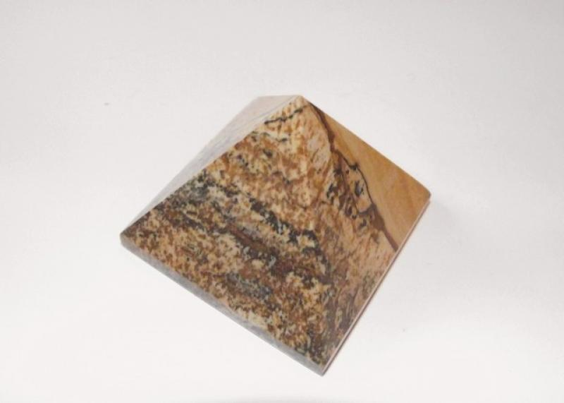 Kalahari Picture Jasper Gemstone Crystal Pyramid