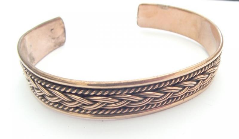 Copper And Brass Knotted Cuff Bracelet 2