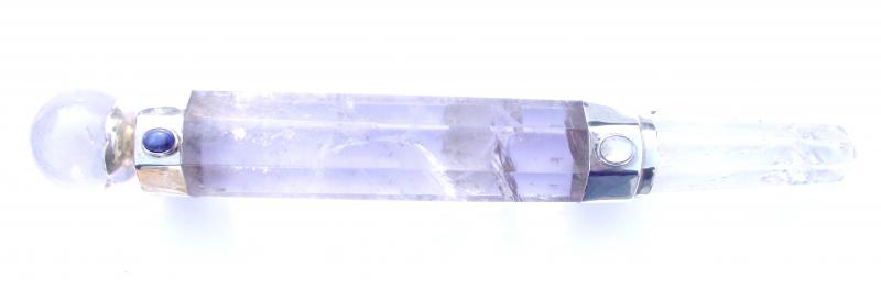 Quartz Sterling Silver Large Gemstone Wand