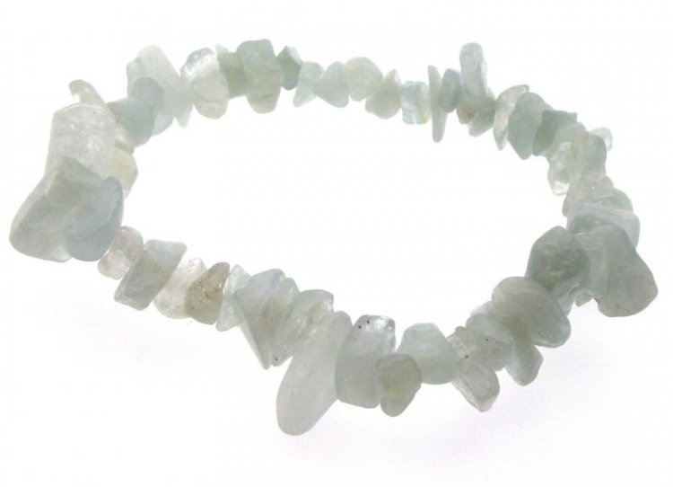 Aquamarine Crystal Chunky Gemstone Chip Bracelet