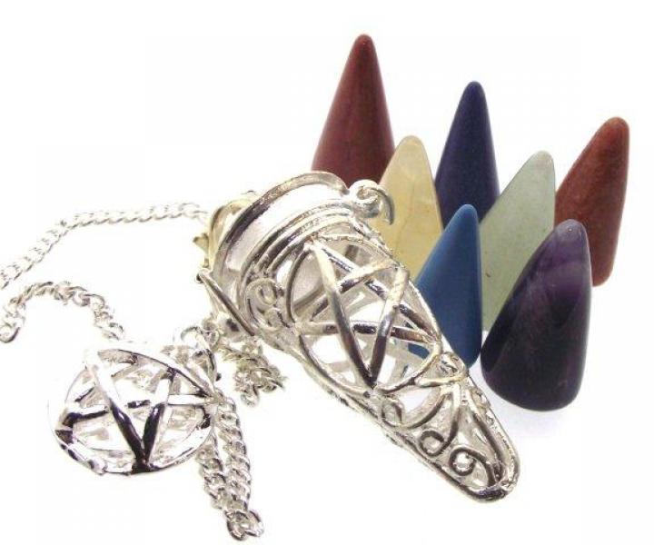 Divination Pentacle Cage Pendulum Pentagram Doswer