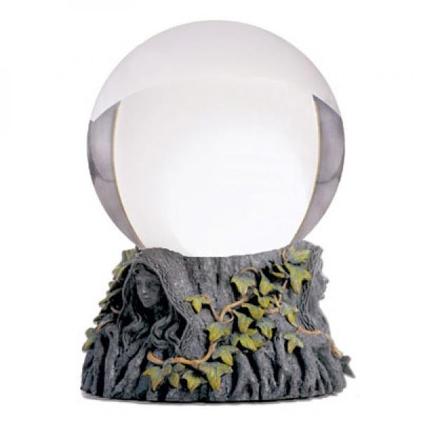 Huge 110Mm Crystal Ball On Stand Maiden Mother Crone