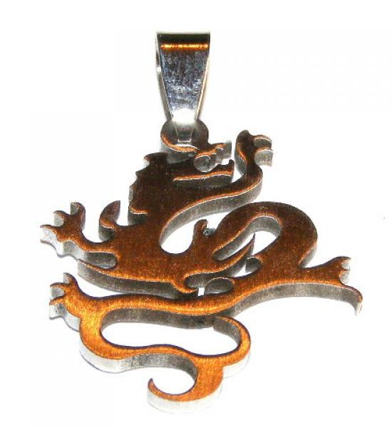 Stainless Steel Dragon Pendant Gothic