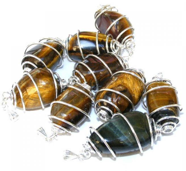 Tigers Eye Spiral Pendant