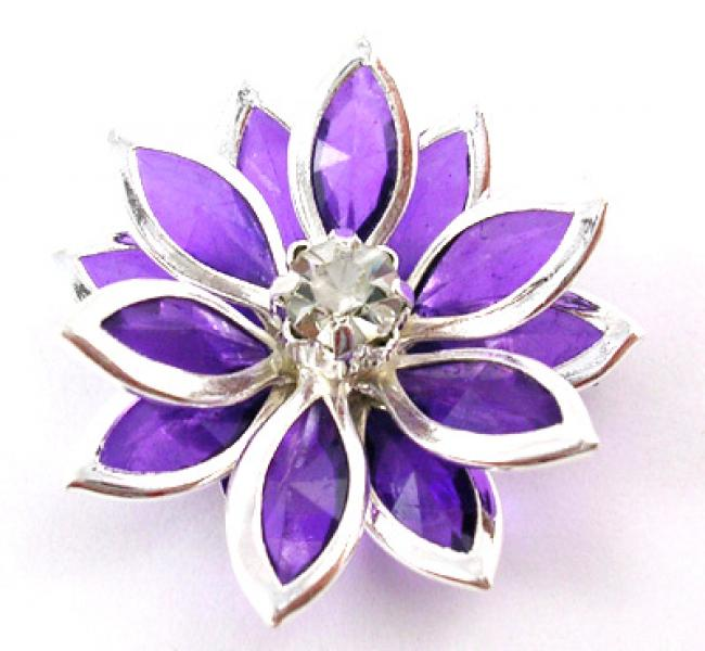 Violet Acrylic Flower Focal Point Bead