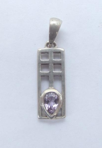 Amethyst Facetted Sterling Silver Pendant