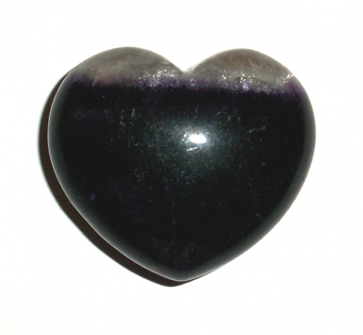 Fluorite Polished Gemstone Crystal Heart - Large 1