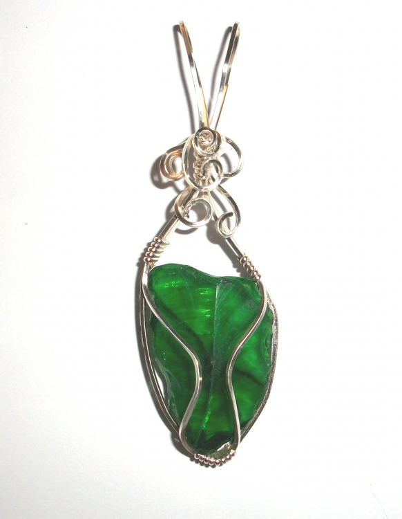Atlantean Andara Crystal Wired / Wire Wrapped Pendant