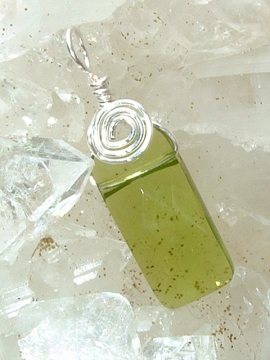 Green Quartz Earrings - Sterling Silver