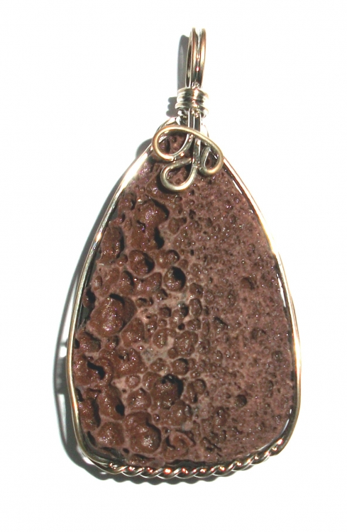Mount Etna Wire Worked / Wrapped Pendant 3