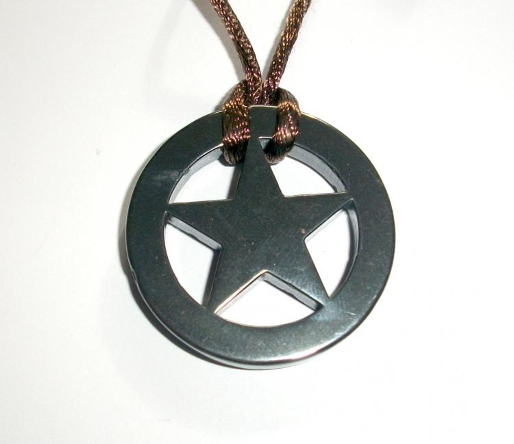 Pentacle star carved hematite pendant 20242 399 the gem tree pentacle star carved hematite pendant larger image aloadofball Images