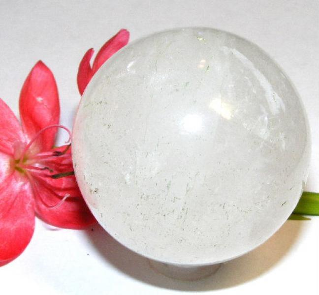 Quartz / Rock Crystal Large Gemstone Orb Sphere