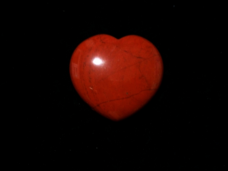 Red Jasper Large Gemstone / Crystal Sleek Heart