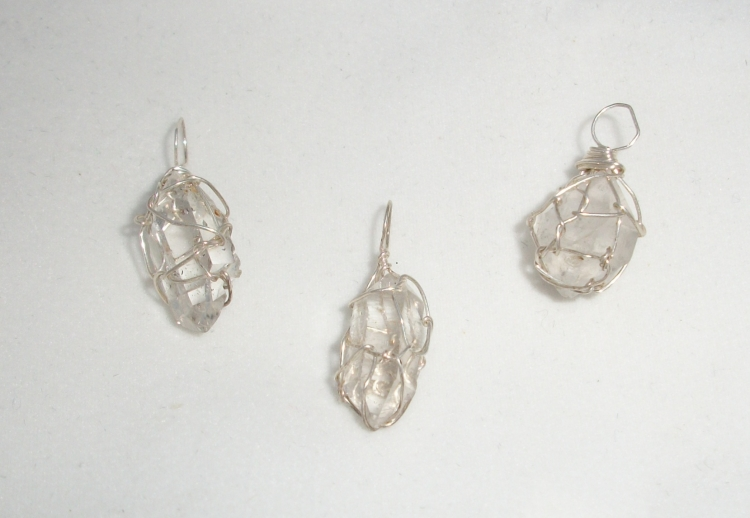 Satyaloka Quartz Wire Wrapped Pendant