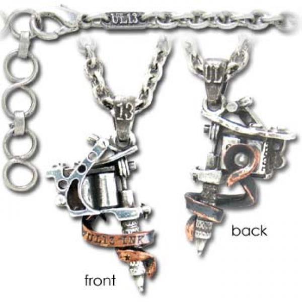 Tattoo Gun Necklace Alchemy Gothic
