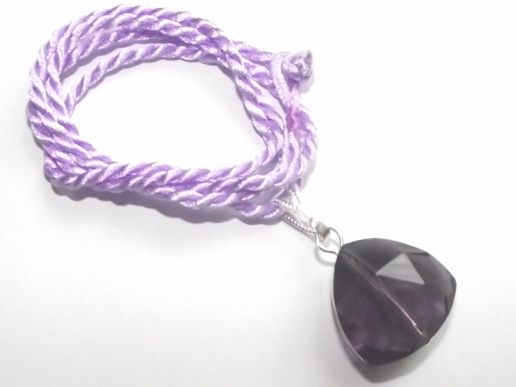 Violet Andara Triangle Cut with Necklace Cord